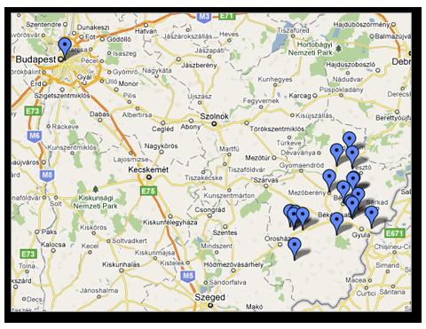 kunszentmárton térkép Wenckheim kastélyok kunszentmárton térkép